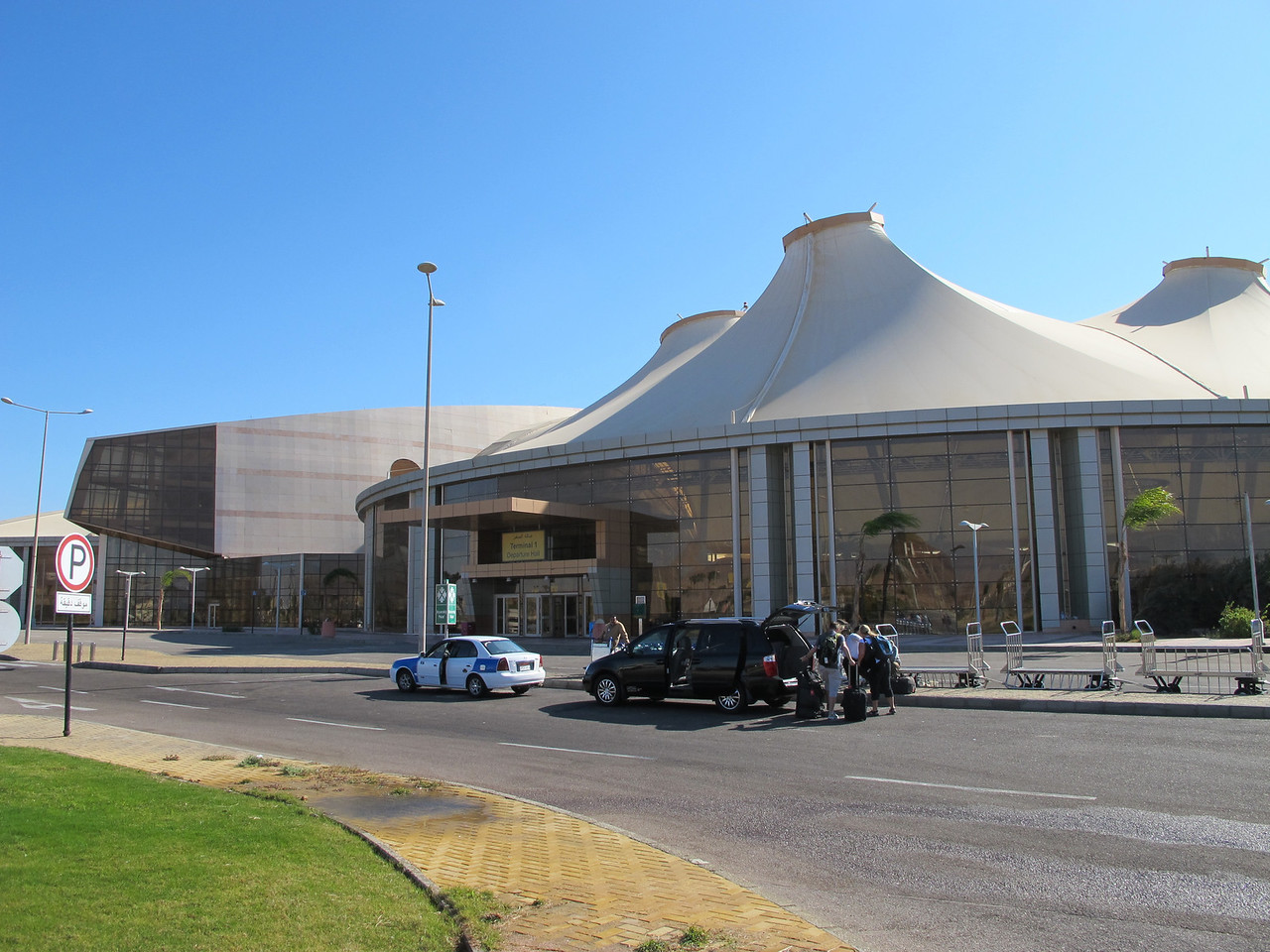 The airport is rather new and is located about 30 minutes from the actual town of Sharm El Sheikh.