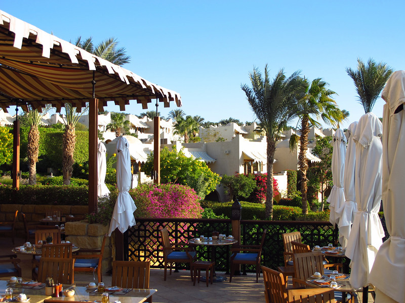 Breakfast is served on the terrace each day.