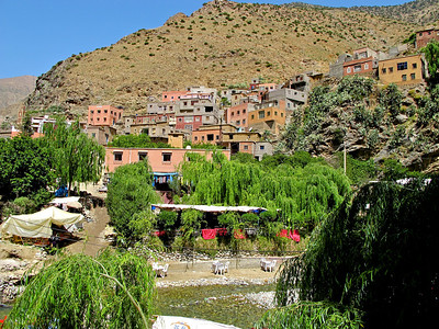 The drive is about 60-90 minutes from Marrakech up a one way road that ends at the Berber village of Setti Fatma.