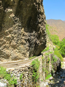 Because of the agricultural production in the valley, water from Ourika is channeled through these irrigation canals to farms throughout the valley.