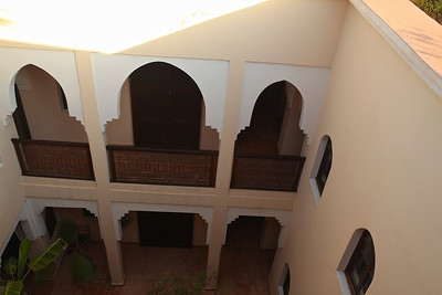 Looking down into one of the courtyards from the roof.