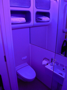 You can choose your mood lighting in each pod as well.  From purple, to daylight yellow to bright white.