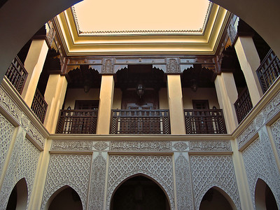 But inside, many have open air courtyards with rooms located around the outside.
