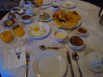 Breakfast is included in the room rate and it's made to order at whatever time you want each morning.