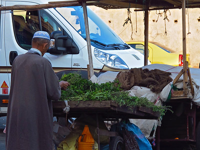 Mint tea is extremely popular in Morocco.  Every day, many vendors bring fresh mint to sell.