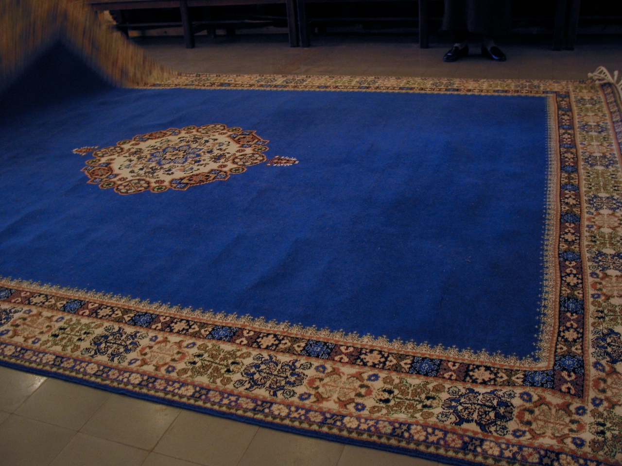 """While there are many carpet shops throughout Tangier, many are geared toward tourists where they put on the """"hard sell""""."""
