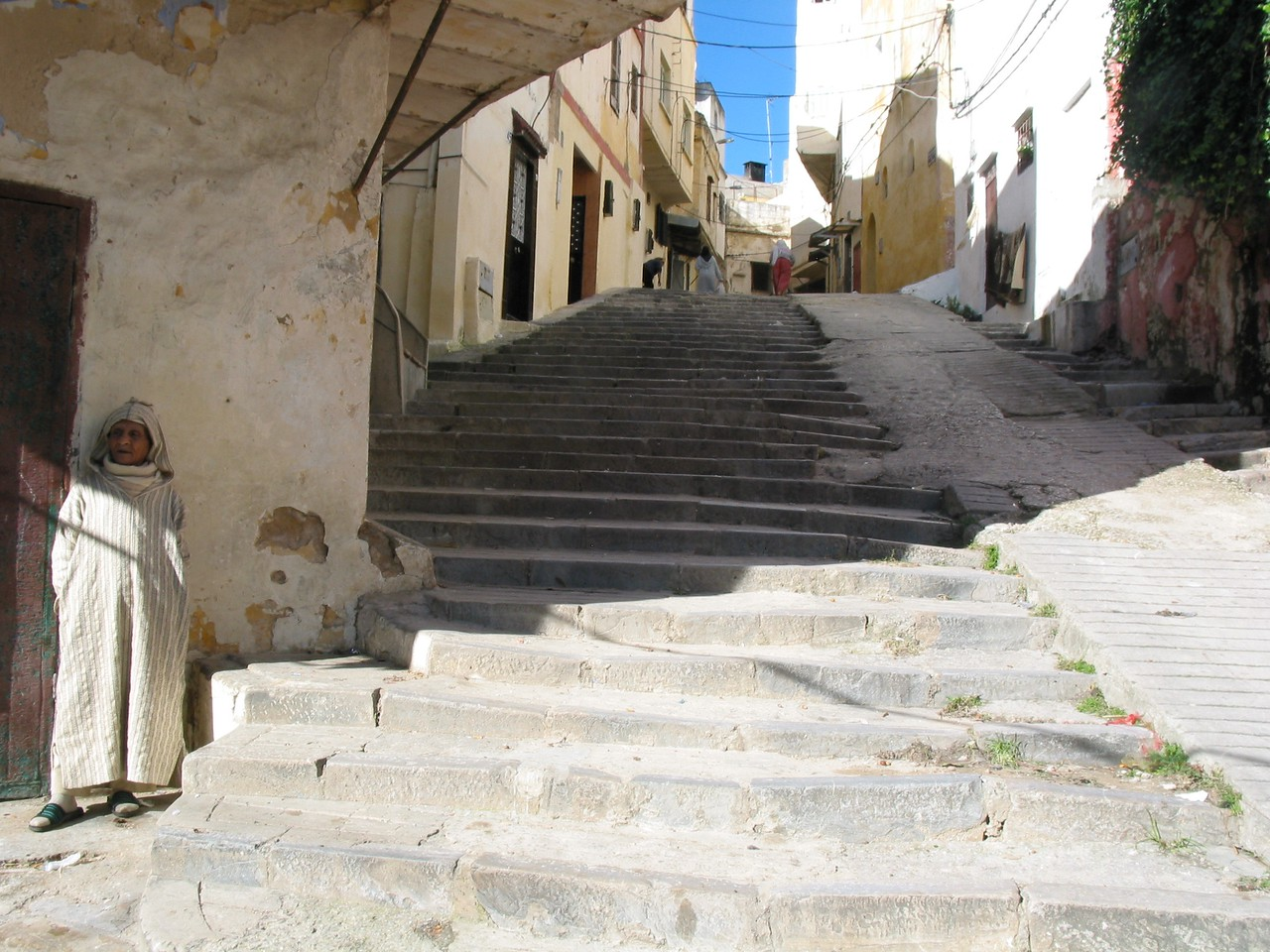 The old city is a labrynth of narrow alleyways, paved paths and stairs.