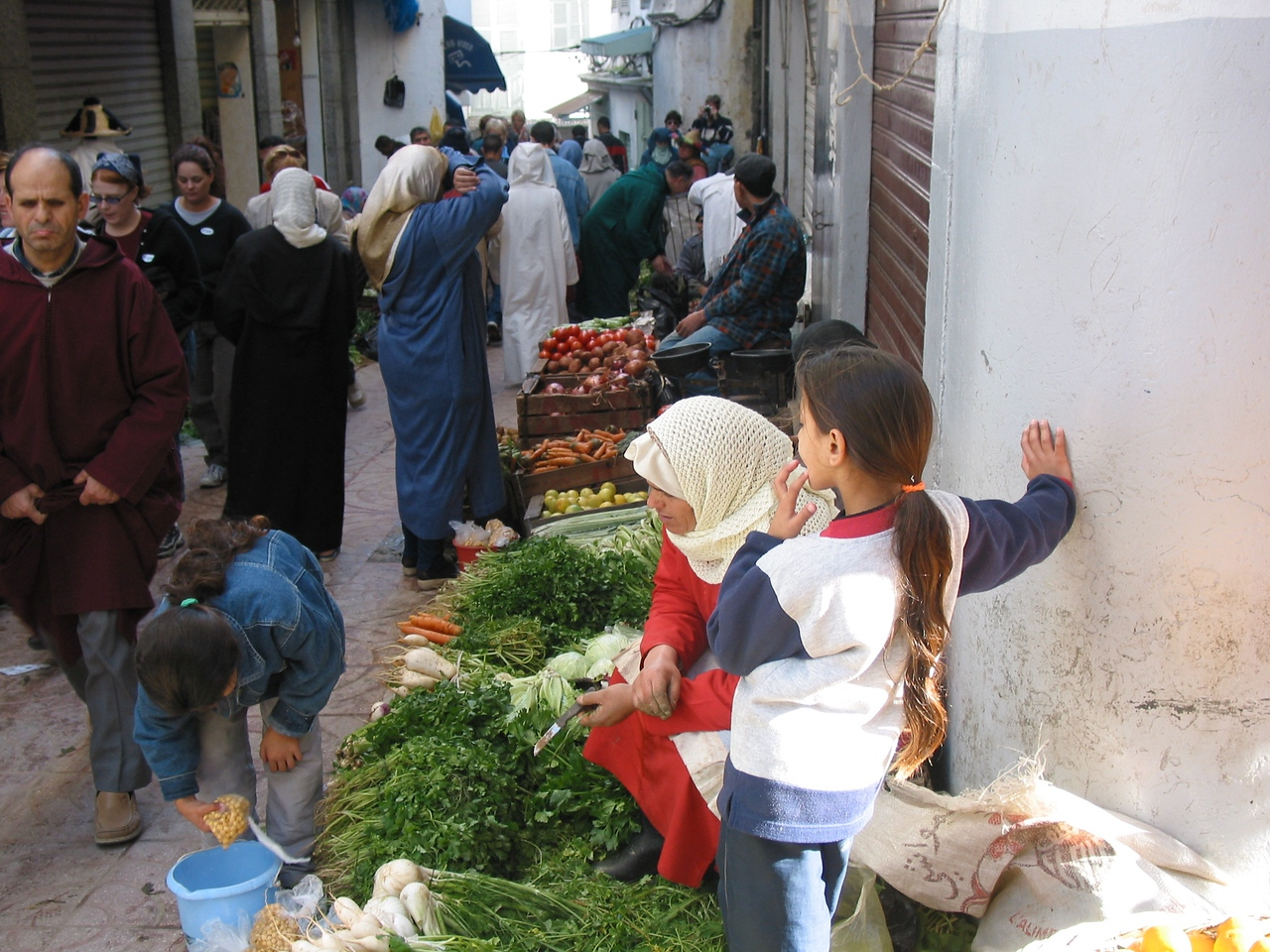 Panhandlers and locals can be very persistent when walking through the narrow streets of the old city.