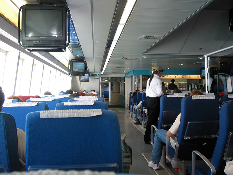The ferries that travel between Spain and Morocco are very modern and the trip is less than 45 minutes.