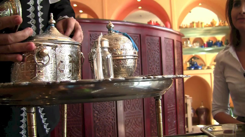 The Moroccan way to make tea.