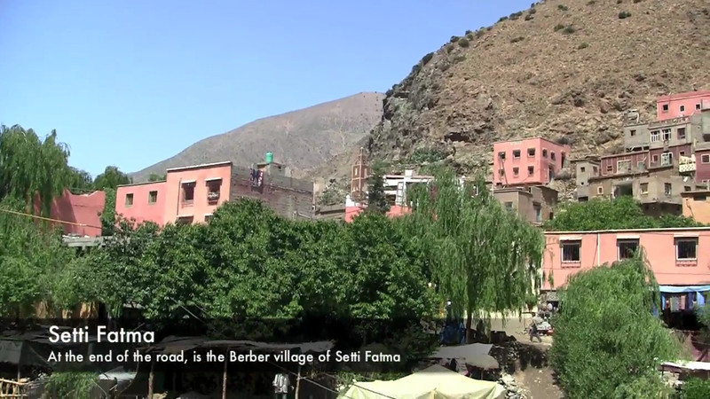 A trip through the Ourika Valley outside of Marrakech, Morocco to the village of Setti Fatma and the Seven Waterfalls.
