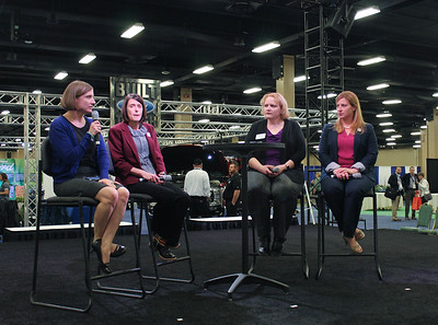 Tangipahoa Parish's Amelia Kent, far right, participated in a panel with farm wives across the country, talking about their roles on their family farms.