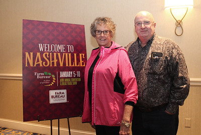In January 2018, Louisiana Farm Bureau Women's Leadership Committee 2nd Vice Chair Becky Hensgens and her husband Rodney of Calcasieu Parish attended the 99th American Farm Bureau in Nashville, Tennessee.