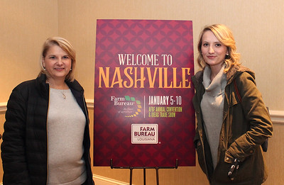In January 2018, Mary Chauvin, left, and LFBF Women's Leadership Committee St. Martin Parish Chair & District XI Alternate Emily Chauvin, right, from St. Martin parish attended the 99th American Farm Bureau in Nashville, Tennessee.