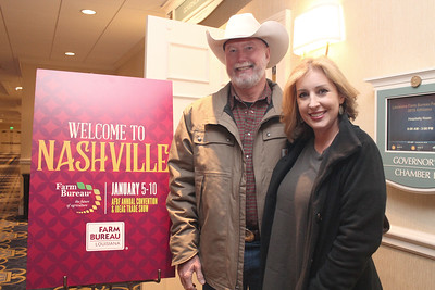 In January 2018, Feliciana Farm Bureau Parish President John Thompson with his wife, Heather, attended the 99th American Farm Bureau in Nashville, Tennessee.