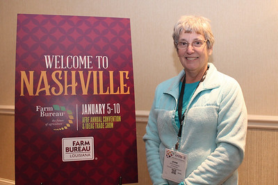In January 2018, LFBF Women's Leadership Committee member Joan Robbins of St. Charles Parish attended the 99th American Farm Bureau in Nashville, Tennessee.