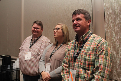 Attending the 99th Annual Convention of the American Farm Bureau are is 2018 American Farm Bureau Excellence in Ag contestant representing Louisiana Katie Sistrunk of Iberville Parish, middle, her husband Jeff, left, and DeSoto Farm Bureau Parish President Joey Register.