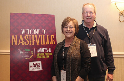 In January 2018, LFBF District IX Board Member Chuck Wager, right, and his wife Julie of Tangipahoa Parish attended the 99th American Farm Bureau in Nashville, Tennessee.