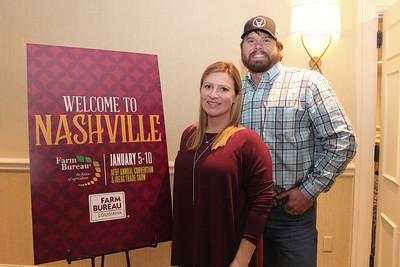 In January 2018, Louisiana Farm Bureau 2016 Young Farmer & Rancher Achievement Award winners Amelia and Russell Kent of Tangipahoa Parish attended the 99th American Farm Bureau in Nashville, Tennessee.