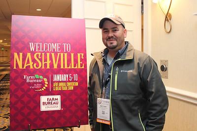 In January 2018, Louisiana Farm Bureau Young Farmer & Rancher chair Matthew Gravois attended the 99th American Farm Bureau in Nashville, Tennessee.