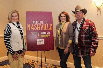 In January 2018, Gwen Brousard, left, and Louisiana Farm Bureau Women's Leadership Committee Alternate District VIII Director and Vermilion Parish Chair Roslyn Simon with her husband Timothy, right, attended the 99th American Farm Bureau in Nashville, Tennessee.