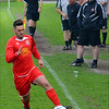AFC Liverpool's James Thomas running down the left-wing.