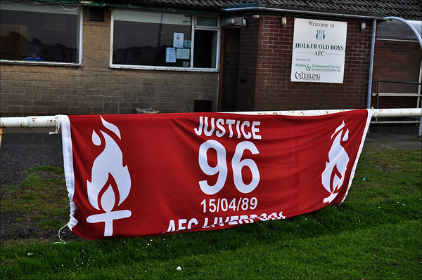 AFC Liverpool's Justice for the 96 banner. (Large file).