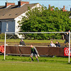Michael Christopher faces Norton Utd's first penalty.....