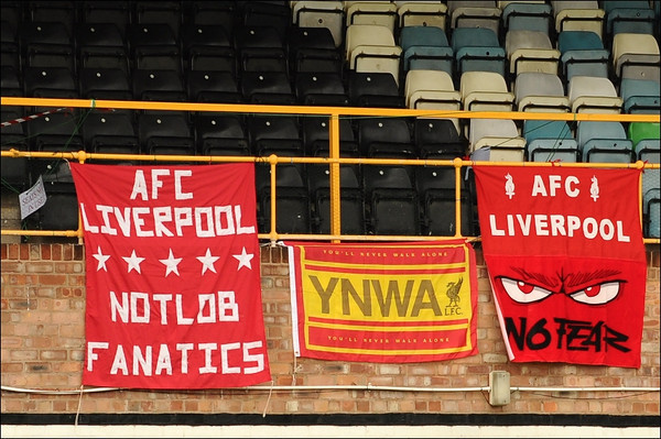 AFC Liverpool match banners.