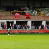 The main stand at Prescot Cables's Hope Street ground.