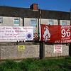 Rangers FC and AFC Liverpool banners together. (Large size picture).