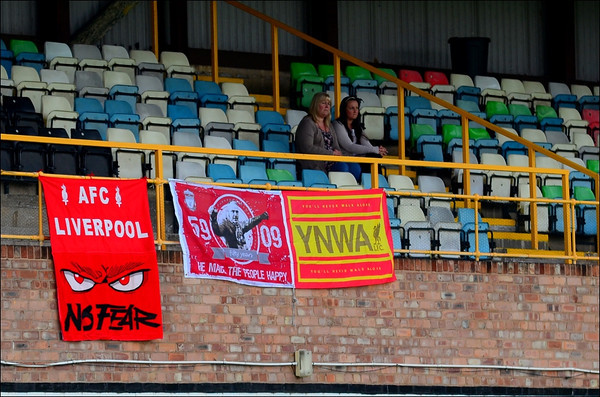 Some match day banners of AFC Liverpool.