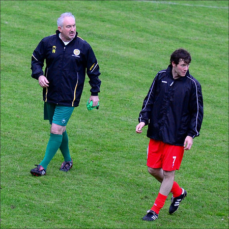 AFC Liverpool's Paul Walsh and Joe Gibbons.