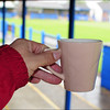 A top cup of coffee at Barnoldswick Town!
