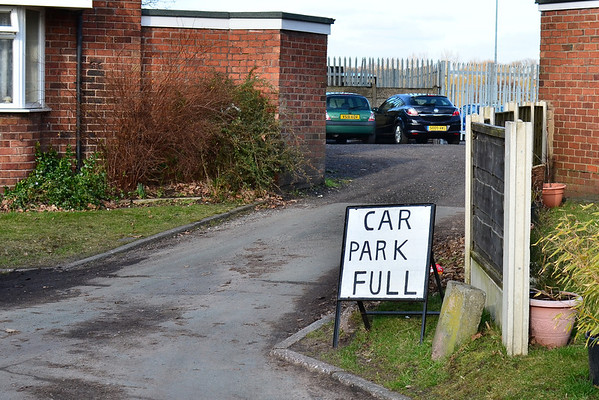 The car park was full at the LAW Training Stadium home of Alsager Town.