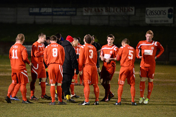 AFC LIverpool's manager Paul Moore speaks to his players before the kick-off.