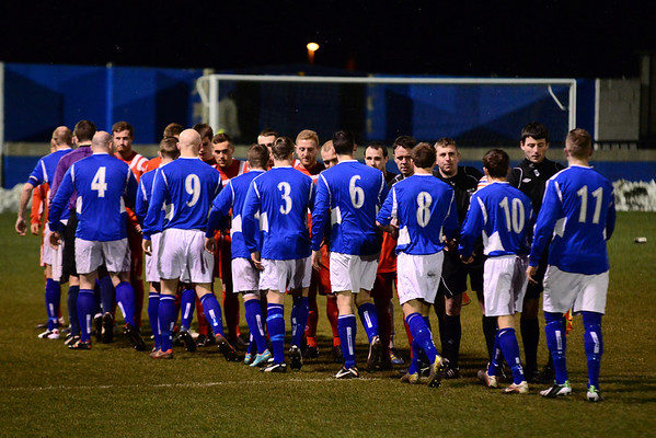 Padiham and AFC Liverpool players before the kick-off.