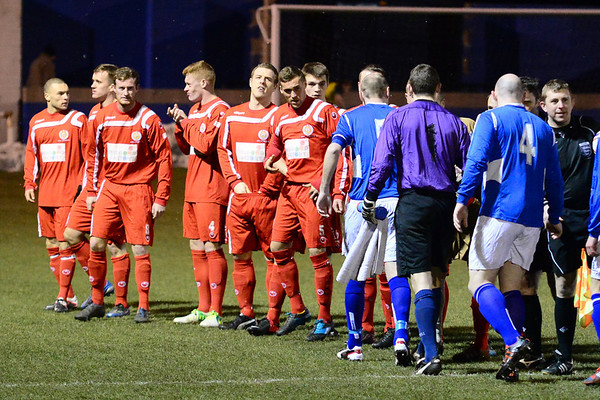 AFC Liverpool players before the kick-off.