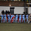 St Helens Town and AFC Liverpool players shake hands before the kick-off.