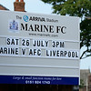 Marine AFC versus AFC Liverpool - pre-season 2014/2015.