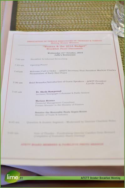 AFETT October Breakfast Meeting