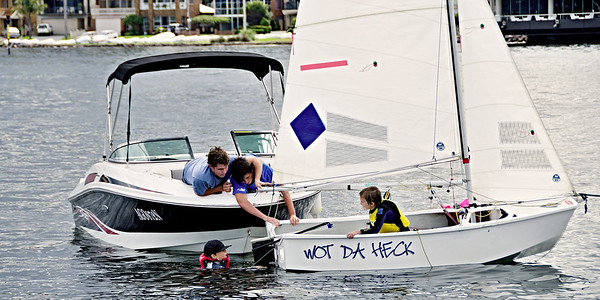 Children Sailing Belmont 16ft Sailing club -