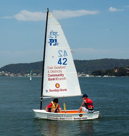 Gosford, Australia - September 27, 2012: Children sailing. Editorial.