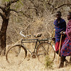 """MASAI TRIBE ON THE BORDER OF KENYA AND TANZANIA.<br /> COMMUNITY PREPARES FOR VISITORS FROM THE UNITED STATES. MEN SLAUGHTER GOATS, WHILE THE WOMEN PREPARE CABBAGE AND RICE. THEY ARE CELEBRATING THE RECEIVING OF FUNDS  FROM THE ORGANIZATION """"SAVE AFRICA'S CHILDREN"""" TO BUILD A SCHOOL.<br /> VALERIE GOODLOE"""