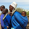 Masai mothers with children on backs - Serengeti-5389
