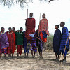 Masai men dancing 2 - Serengeti-5351