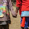 Masai children holding hands - Serengeti-5415
