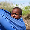 Masai baby on mother's back - Serengeti-5391