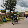 pedestrians and bike on street - Uganda-7487