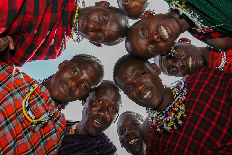 Masai men in a circle around me - Serengeti-5376